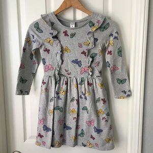 Carters French terry butterfly dress